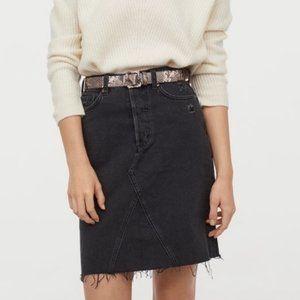 H&M Black Denim Skirt -Size 10 (NWOT)